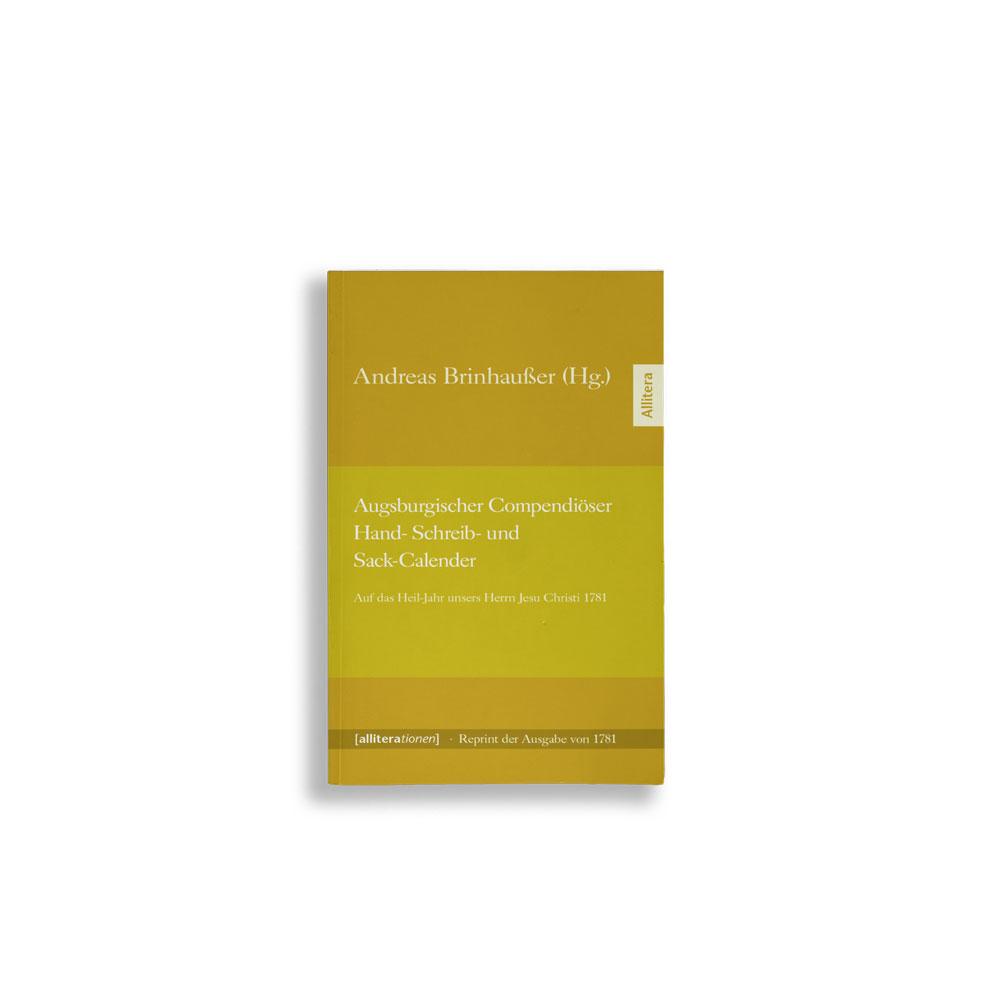 Buchcover Andreas Brinhauser Augsburgischer Compendiöser Hand- Schreib- und Sack-Calender