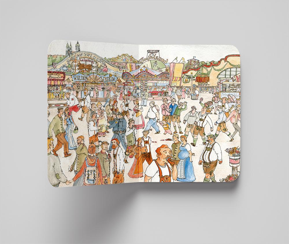 Das Wiesn Wimmelbuch: Haben Sie Kellnerin Berta im Getümmel des Oktoberfests schon entdeckt?