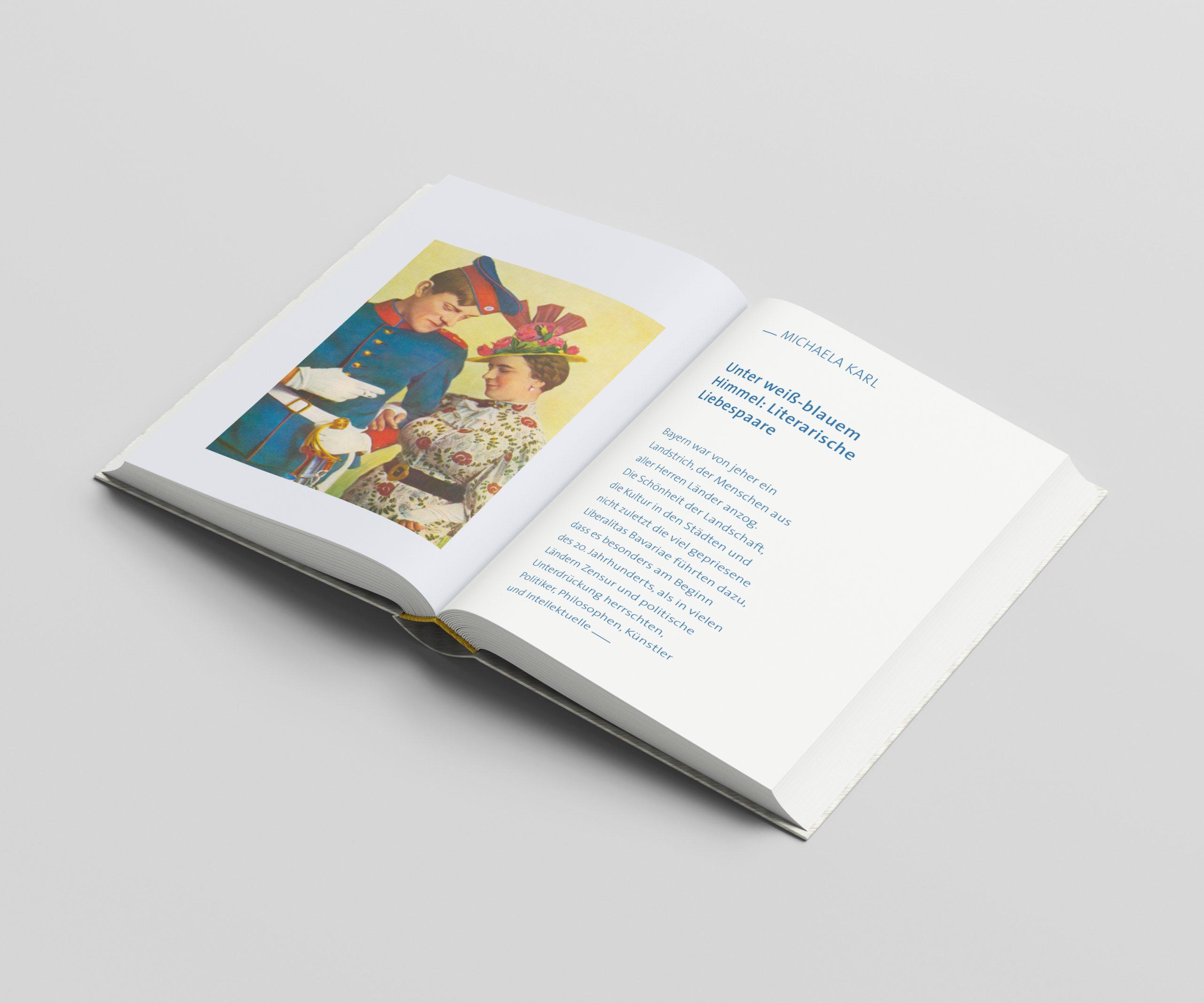 Blick ins Buch des Literaturportal Bayerns