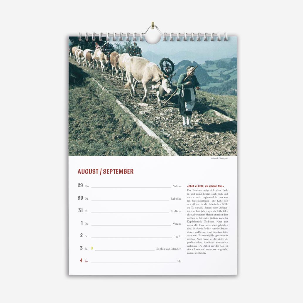 Pedarnig Dieltind ausgesprochen bayerisch Wochenkalender 2022