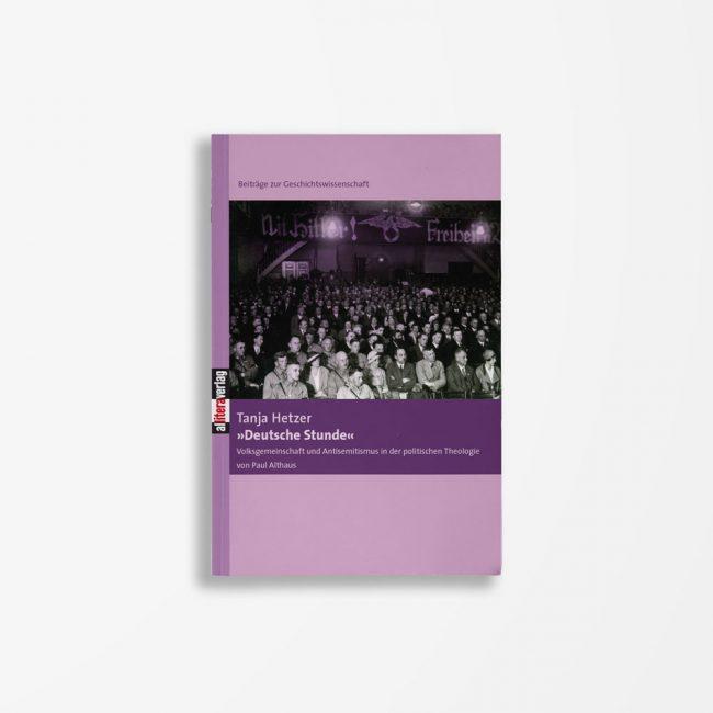 Buchcover Tanja Hetzer »Deutsche Stunde«