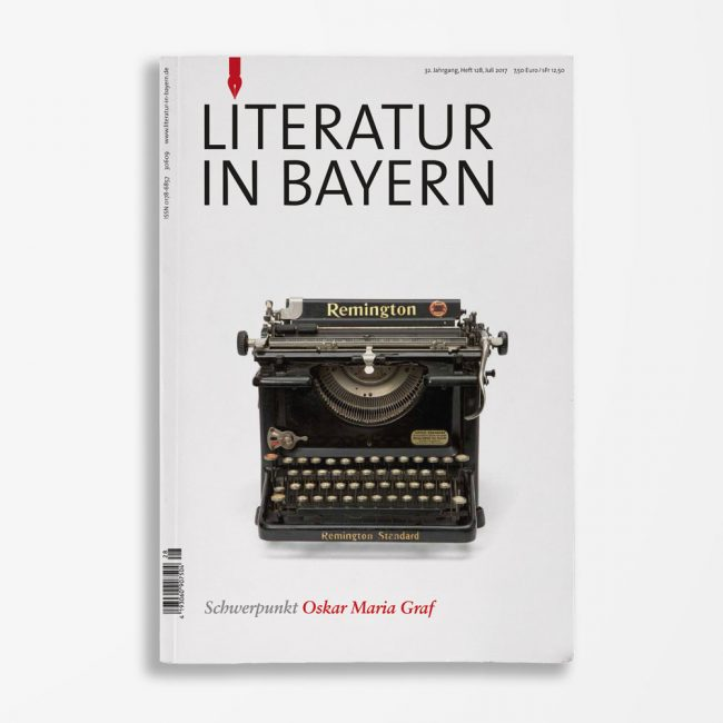 Zeitschriftencover Gerd Holzheimer Literatur in Bayern 128