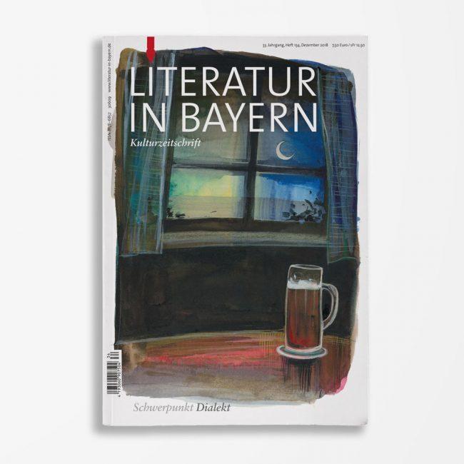 Zeitschriftencover Gerd Holzheimer Literatur in Bayern 134
