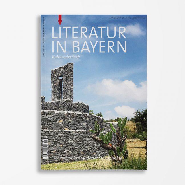 Zeitschriftencover Gerd Holzheimer Literatur in Bayern 136
