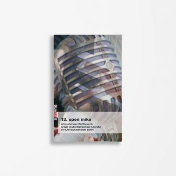 Buchcover Literaturwerkstatt Berlin 13. open mike