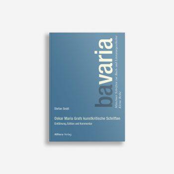 Buchcover Stefan Seidl Oskar Maria Grafs kunstkritische Schriften