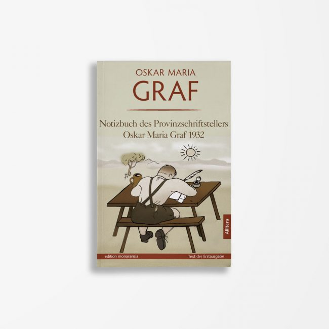 Buchcover Oskar Maria Graf Notizbuch des Provinzschriftstellers