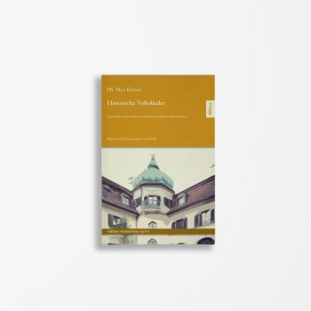Buchcover Ph. Max Körner Historische Volkslieder