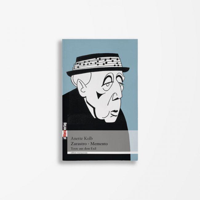 Buchcover Anette Kolb Zarastro Memento