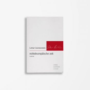 Buchcover Lothar Quinkenstein mitteleuropäische zeit