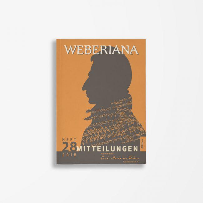 Buchcover Internationale Carl-Maria-von-Weber-Gesellschaft e. V. Weberiana 28