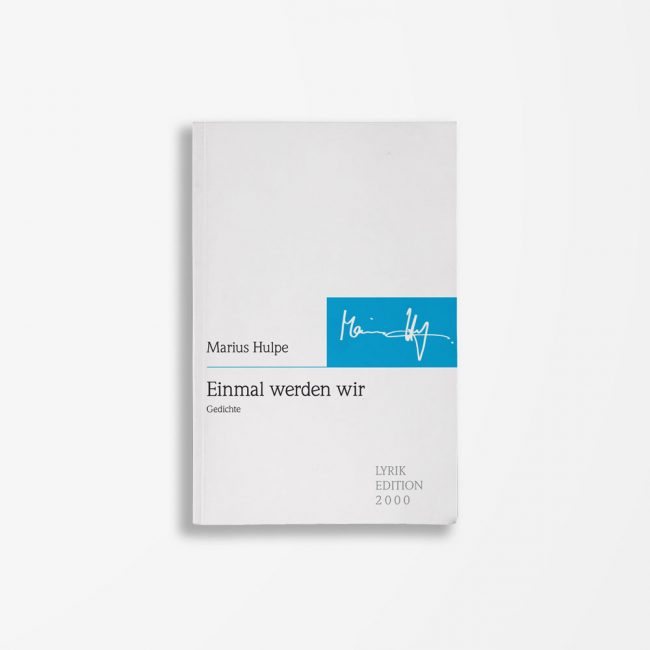 Buchcover Marius Hulpe Einmal werden wir