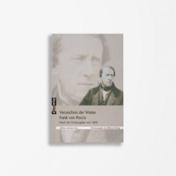 Buchcover Franz von Pocci Verzeichnis der Werke