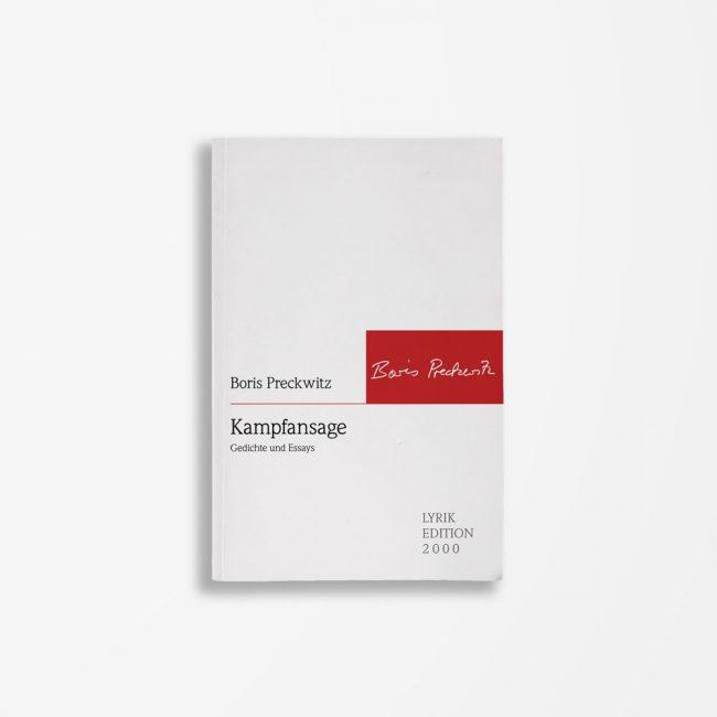 Buchcover Boris Preckwitz Kampfansage