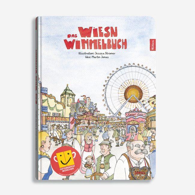 Buchcover Martin Jonas Jessica Strixner Das Wiesn Wimmelbuch