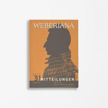 Cover- Internationale Carl-Maria-von-Weber-Gesellschaft-Weberiana Heft 31 2021